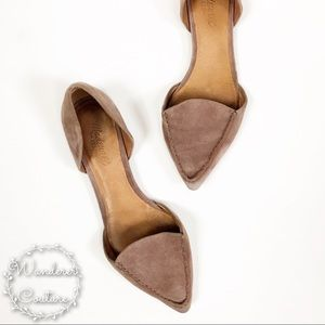 Madewell D'Orsay Suede Pointed Toe Flats